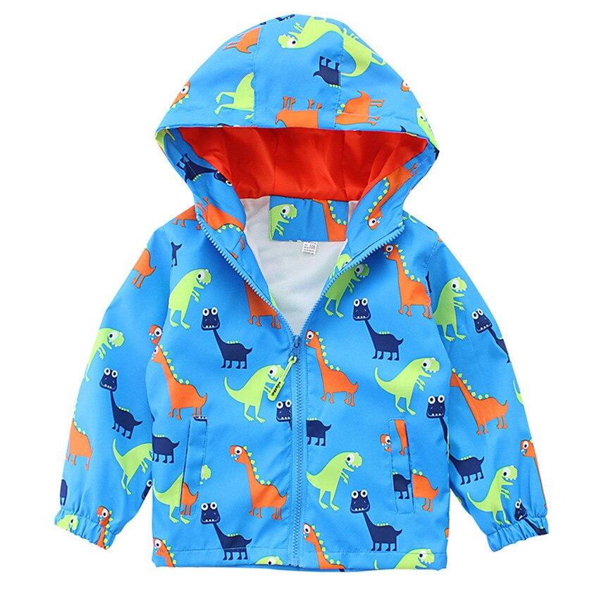 2 до 8 лет Детская весенняя куртка детская одежда куртки для мальчиков с капюшоном динозавров куртка для мальчиков спортивная верхняя одежд...