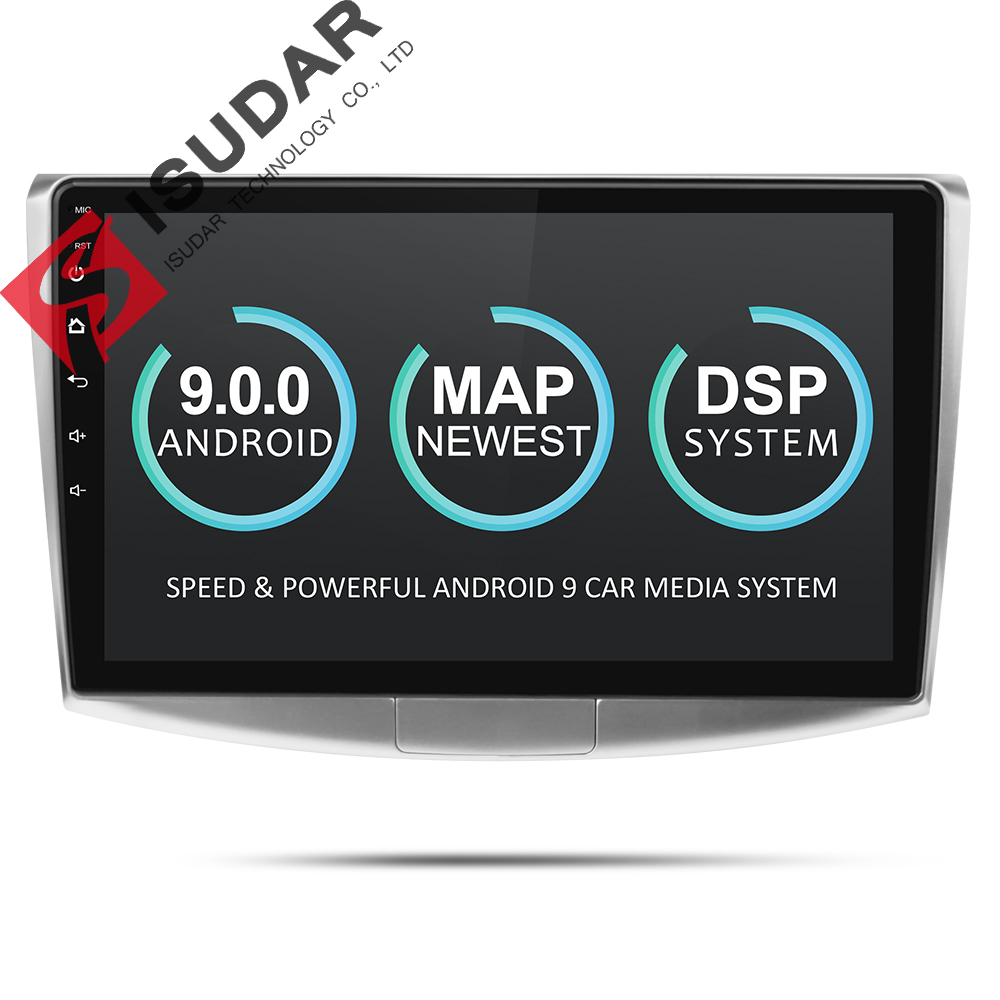 Isudar 2 Din Auto Radio Android 9 For VW/Volkswagen/Magotan/CC/Passat B6 B7 CANBUS Car Multimedia Video Player GPS USB DVR FM/AM