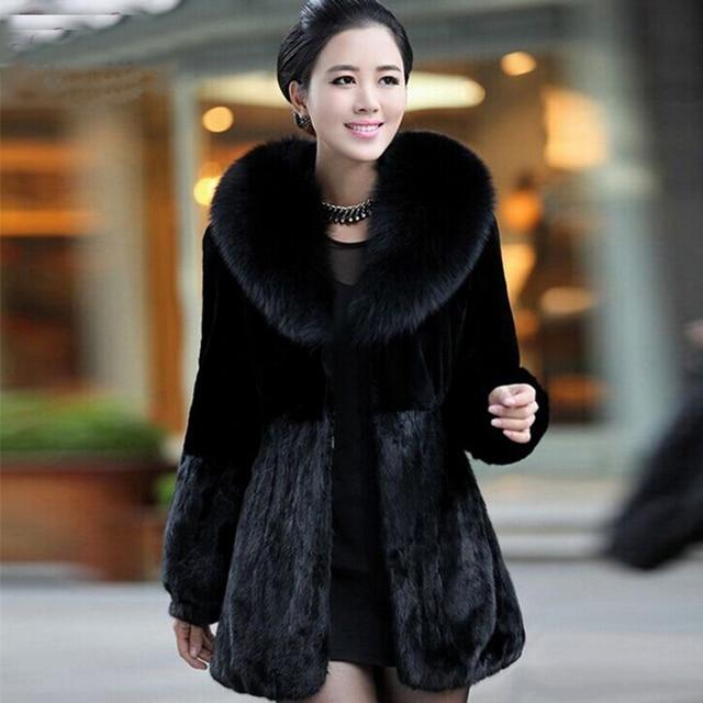 2016 New Winter Top Fashion Women Faux Fur Coat Female Cheap Mink ...