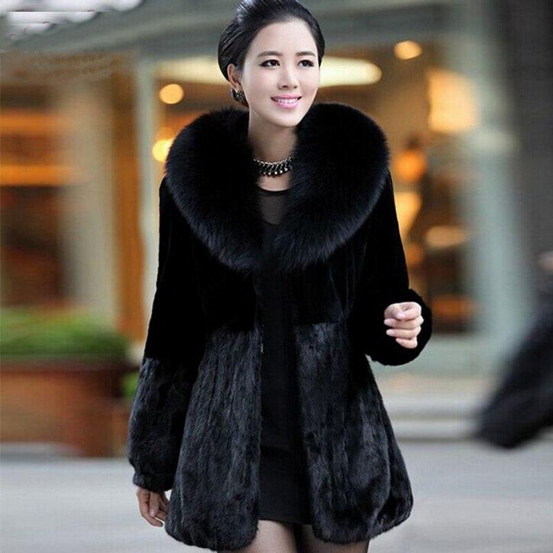 manteau en fausse fourrure pour femme veste en vison decontractee epaisse et chaude bon marche nouvelle collection hiver 2016