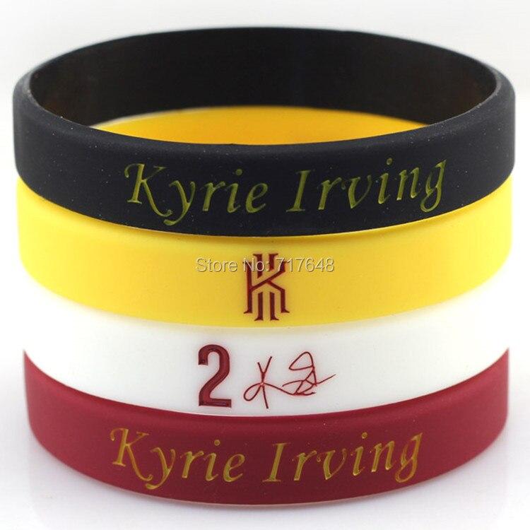 Prix pour 4 pcs Kyrie Irving bracelet silicone bracelets manchette en caoutchouc bracelets livraison gratuite