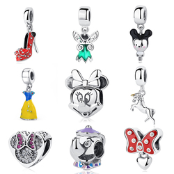 NEW 100% Authentic S925 Sterling Silver Red High Heels Shoes Enamel Hanging Charm Bead Fit Pandora Bracelets & Bangles