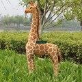 Dorimytrader 55'' / 140cm Huge Soft Stuffed Cute Large Plush Simulated Animal Giraffe Toy Decoration Gift Free Shipping DY60313