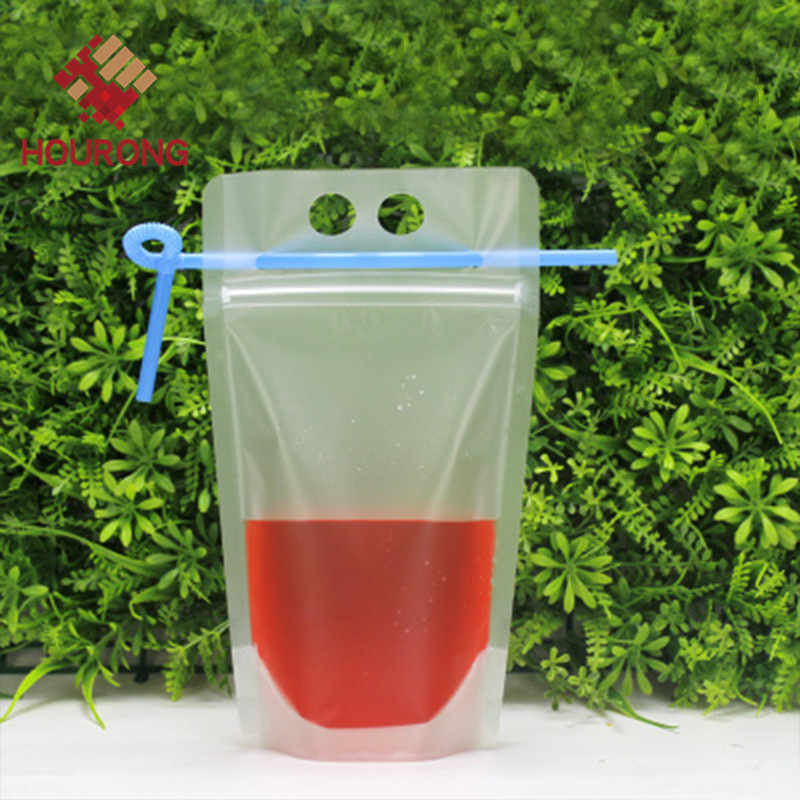 1 Set Self-styled Portable Plastic Drink Bag with Straw Beverage Tea Juice Milk Coffee Clear Package Kitchen Accessories