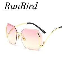 Moda señora rimless Gafas de sol mujeres caliente Nueva Italia marca  diseñador espejo Sol Gafas metal de la vendimia mujer Marco. e370eb1dd754