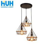 Colgante de cuerda Vintage luz lámpara Vintage Loft iluminación creativa estilo americano E27 bombilla LED Edison Industrial lámpara colgante para Loft