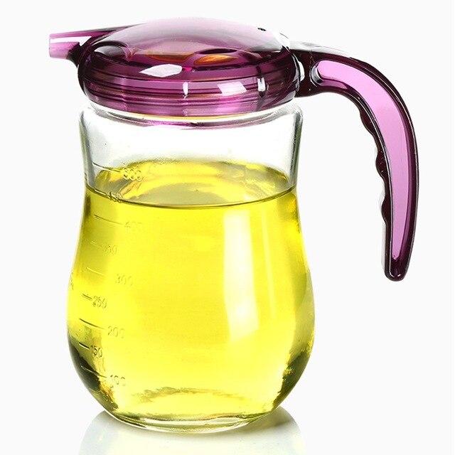 Genial 570ml Glass Oil Pot Leakproof Sauce Pot Premium Oil Bottle Vinegar  Seasoning Pot Container Kitchen Oil