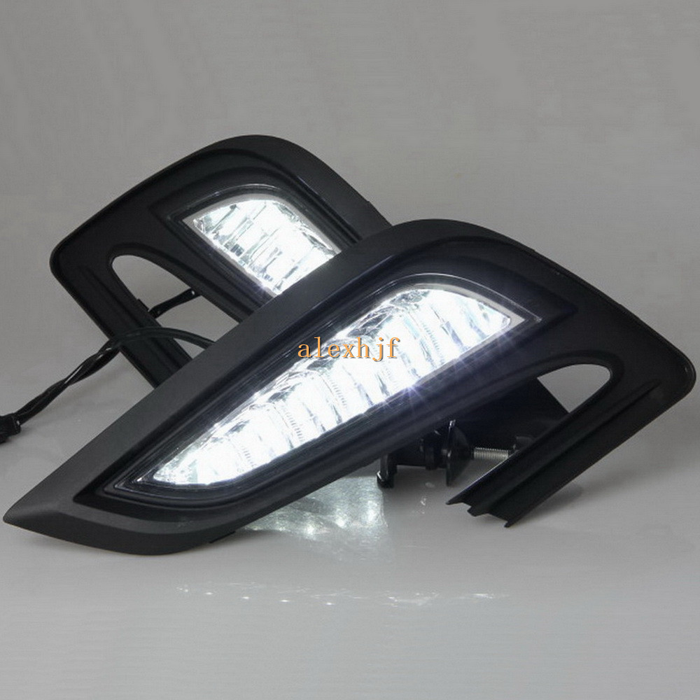 July King LED Daytime Running Lights DRL 6000K LED Fog Lamp Assembly Case for Buick Encore and Opel Mokka X 2016~ON цена
