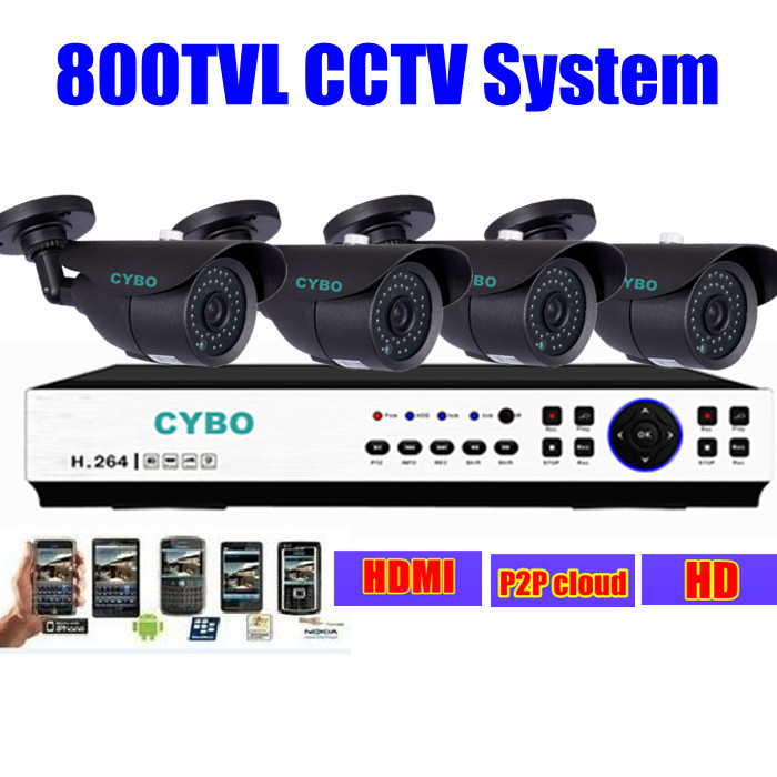 4CH Home Security CCTV System 1080P 960h IP NVR DVR 800TVL IR Outdoor Video Surveillance Camera System 4ch dvr set DIY Kit 4ch cctv system 960h hdmi dvr nvr 4pcs 900tvl ir waterproof outdoor cctv camera home security system surveillance kit 4 channel