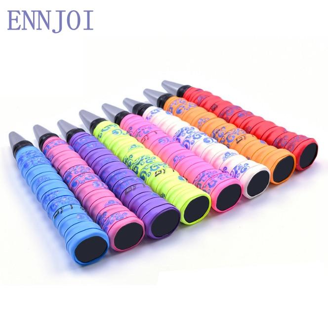 10pcs/lot Anti-slip Diverse Styles Colors Sport Over Grip Sweatbands Tennis Badminton Racket Grip Fishing Rod Sweatband