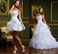 2015 querida Ruched elegante Organza branco duas peças vestido De noiva 2015 em camadas vestido De noiva Casamento Vestidos De Novia SL-W92