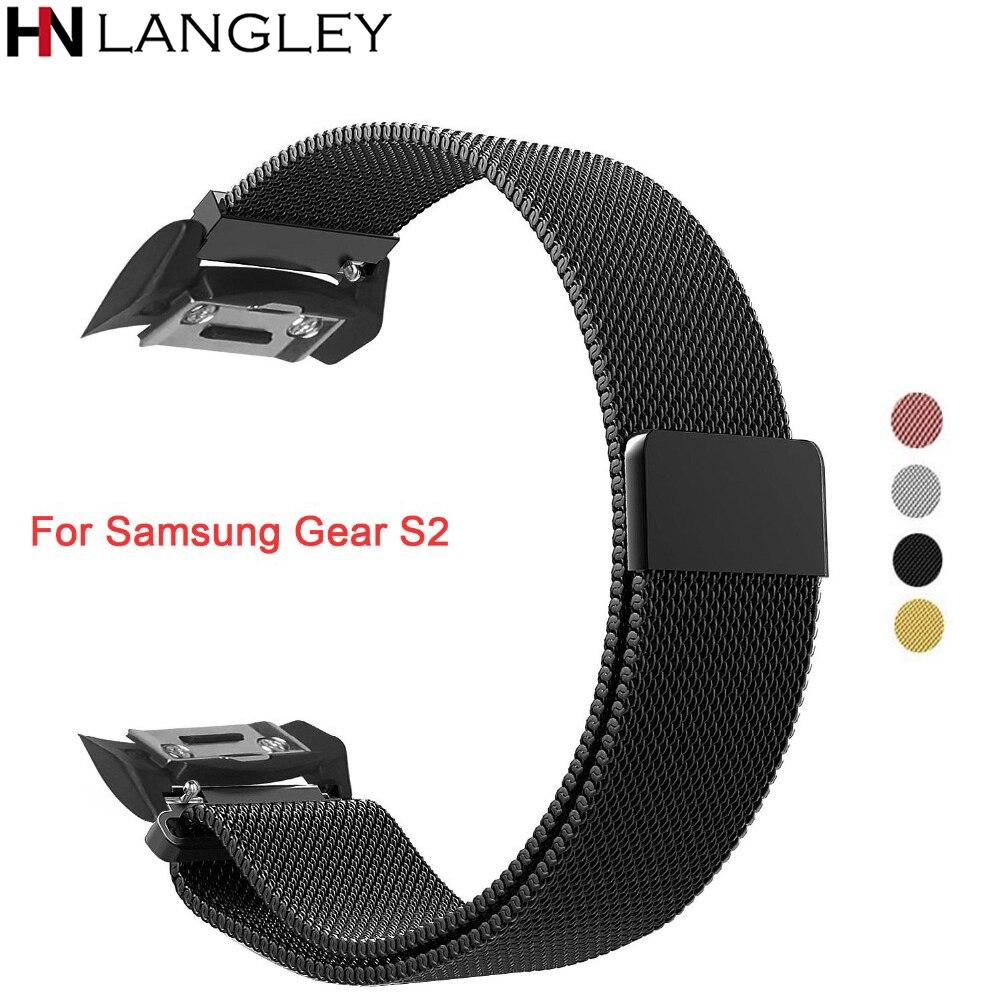 Milanese Boucle Sangle Bandes pour Samsung Vitesse S2 Acier Inoxydable Magnétique Fermeture Fermoir Sport Band SM-R720/SM-R730 Montre Smart Watch
