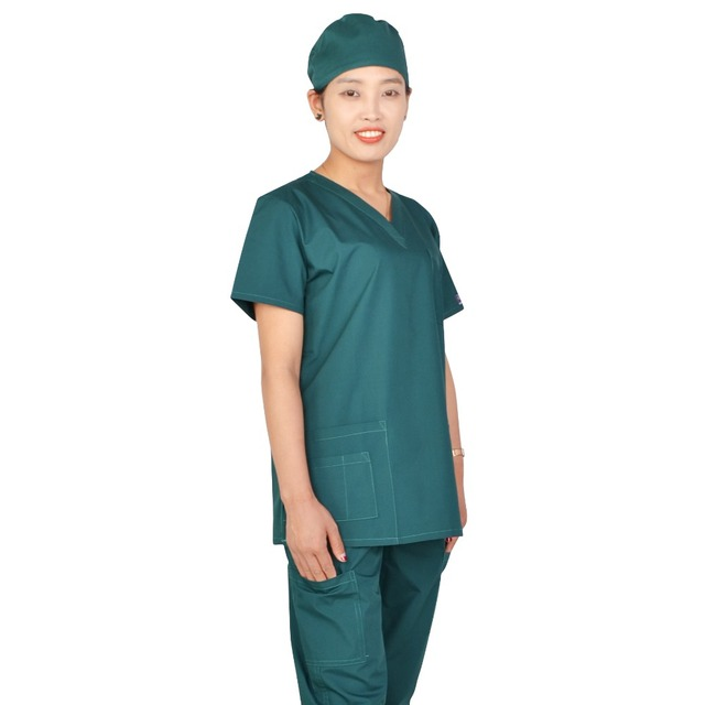 87d9e5cfaee Green medical scrub suit brand excellent quality-in Scrub Sets from ...