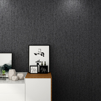 Black Wallpaper Rolls Modern Imitation Leather Non woven Wall Paper For Walls 3D Living Room Clothing Store Backdrop Wall Decor