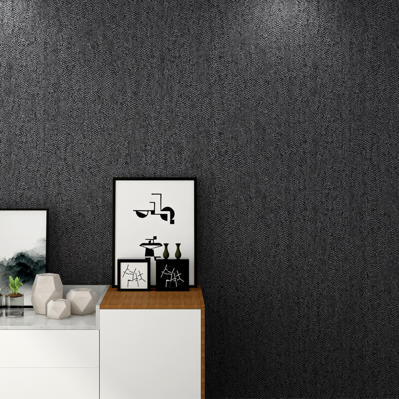 Black Wallpaper Rolls Modern Imitation Leather Non-woven Wall Paper For Walls 3D Living Room Clothing Store Backdrop Wall Decor beibehang embossed non woven stereoscopic mosaic wallpaper rolls modern woven 3d flocking wall paper living room home decoration