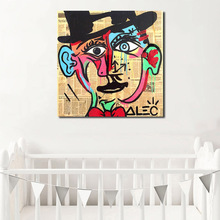 Alec Monopolies Picasso Canvas Painting Print Living Room Home Decoration Modern Wall Art Oil Painting Poster Pictures Artwork classic amedeo modigliani picasso artwork collection sketch canvas print painting poster wall pictures living room home decor