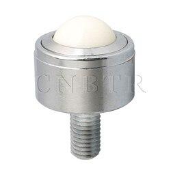 CNBTR 25mm Nylon Ball Metal przeniesienie łożyska jednostka koła przenośnik rolkowy M12 macierzystych