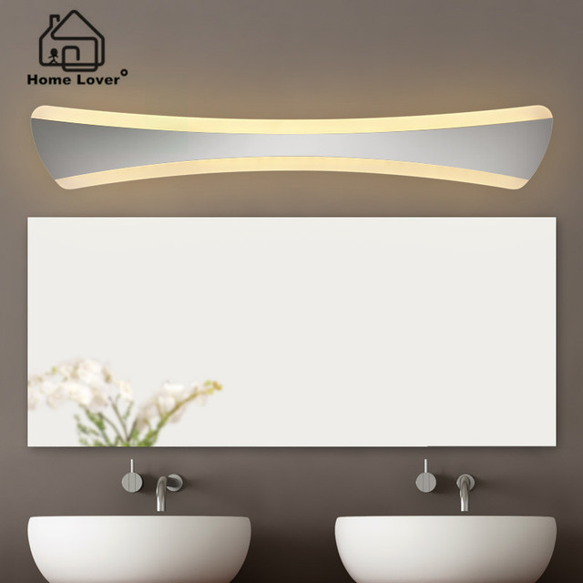 luz llevada del espejo moderno lmpara de pared para cuarto de bao dormitorio luz maquillaje acrlico
