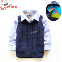 Free Shipping New 2013 Spring Autumn Baby Clothing Topolino Child Baby Vest Children Sleeveless Knitted Vest