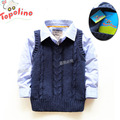 new 2014 spring autumn baby clothing topolino child baby vest children sleeveless knitted vest baby boys waistcoat