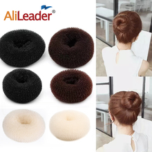 2018 Hot Sale S/M/L Donut Hair Bun Maker Hair Styling Tools Hair Sponge White/Brown/Black Colors Best Hairstyle Accessories