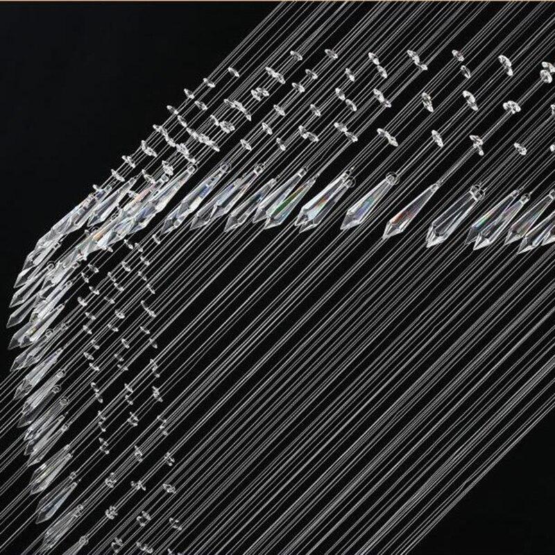 Modern Crystal Chandelier For Spiral Design LED Luxury Crystal Lamp Hanging Interior Ladder Corridor Lamp