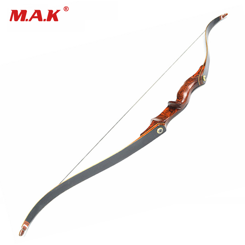 American Hunting Recurve Bow Length 58 Inches 25-55 LBS Wooden Handle for Outdoor Archery Bow Hunting Shooting световые часы pink bloom lb 037 35