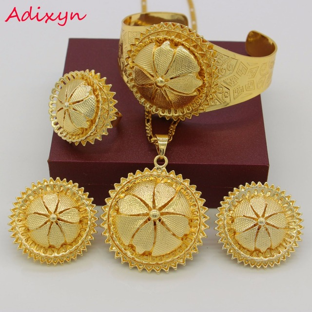 Traditional Festival Ethiopian Wedding Jewelry Sets NecklaceEarring