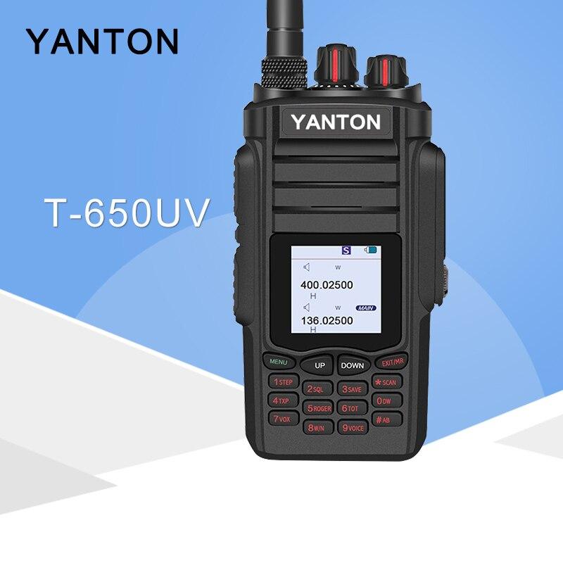 Il s'applique à YANTON T-650UV Tri Double Bande VHF UHF 10 W Portable Two Way Radio Hnadheld Talkie Walkie FM émetteur-récepteur Pour La Chasse
