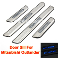 4PCS LED Door Sill Stainless Steel Scuff Plate Welcome Pedal Cover Sticker For Mitsubishi Outlander 2013 2014 2015 2016