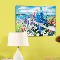 Diy Digital Oil Painting By Numbers Home Decoration Canvas Painting With Frame 30 40 Flowers Sea