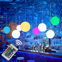 Thrisdar 16 Color Modern Simple Globe Pendant Light With E27 RGB Bulbs Dinning Room Round Ball Hanging Lamp Kitchen Fixture