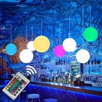 Thrisdar 16 Colore Moderno Semplice Globe Pendant Light Con E27 RGB Lampadine Sala da pranzo Palla Rotonda Lampada A Sospensione Apparecchio di Cucina