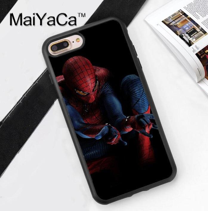 <font><b>The</b></font> <font><b>Amazing</b></font> <font><b>Spiderman</b></font> Pattern Capa Phone <font><b>Cases</b></font> Cover For <font><b>iPhone</b></font> 7 7Plus 4S 5S SE 5C 6 6S 6Plus Soft Rubber Back Cover