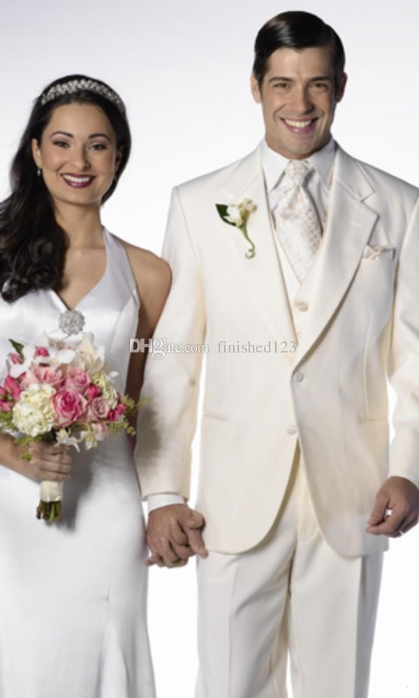 Ivory Wedding Dress White Tux Shirt