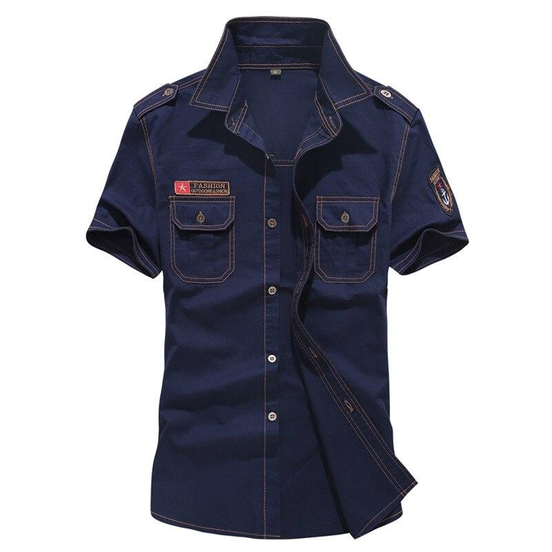 Brand Plaid Strip Classic England Style Men Shirts Size 5XL 6XL Army Military Cotton Short Sleeve Chemise Homme Blusas