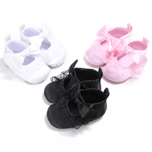 2017 Sweet Newborn Baby Girl Princess Big Bow  Lace Soft Bottom First Walkers Shoes Spring Autumn Summer Baby Girl Shoes