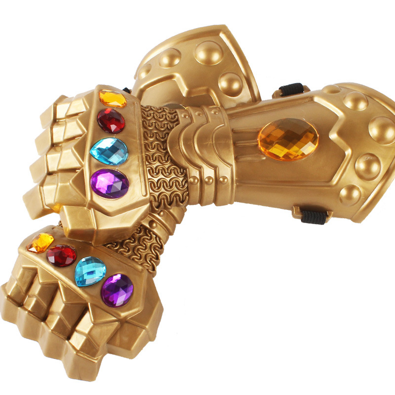 1pcs Movie Infinity Gauntlet Cosplay Thanos Cosplay Gloves Props Avengers Infinity War Kids Children Christmas Gift 26cm