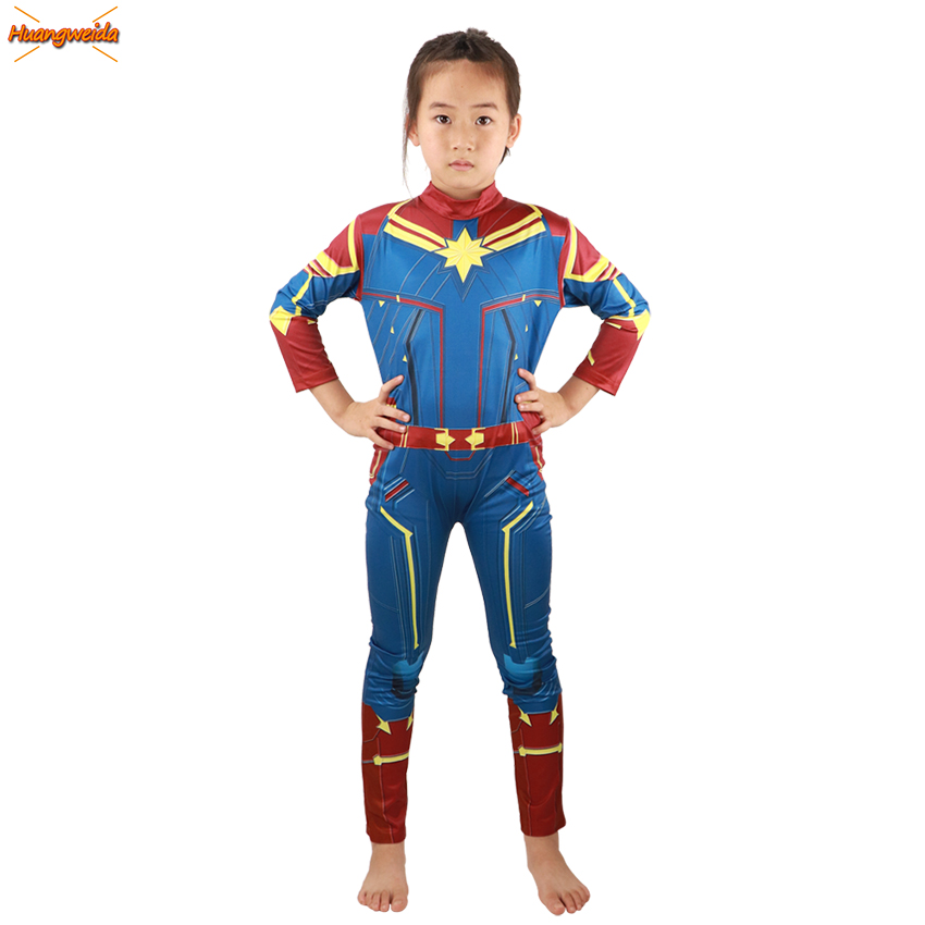 Girls Captain Marvel Costumes Kids Superhero Cosplay Ms Marvel Carol Danvers Jumpsuit Marvel Women Costume Carnival Party Suit Buy At The Price Of 15 30 In Aliexpress Com Imall Com Air force pilot whose dna was accidentally fused with a kree, which imbued her with superhuman strength, energy projection get new costume guides in your inbox once a month. girls captain marvel costumes kids
