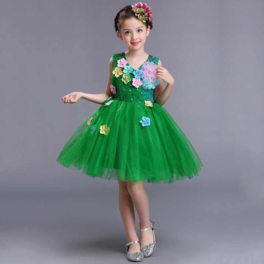 Christmas Beauty Pageant Outfits.Red Pink White Princess Party Wear Lovely Gift Children