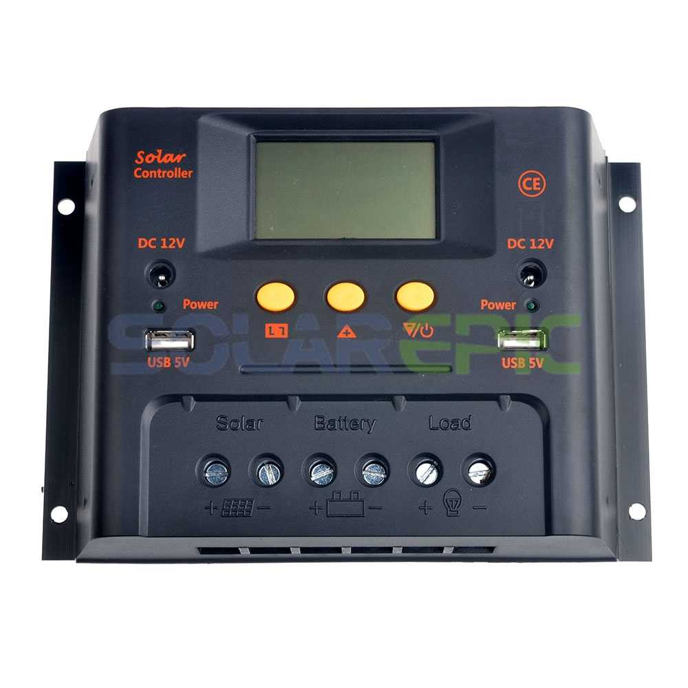 50A PWMSolar Charge Controller 48V Battery Panel Regulator 2400W CE With USB 5V Output LCD Display Solar Controller Charger