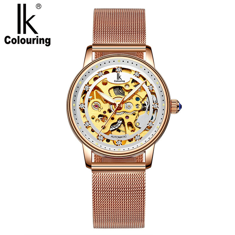 Women Watch Luxury Brand Fashion Casual Ladies Watch Dress hollow automatic mechanical Watch Clock Woman feminino