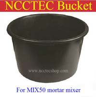 bucket for small mortar mixer MIX50 | NCCTEC barrel for epoxy paint cement mixing machine | 220V 50HZ single phase