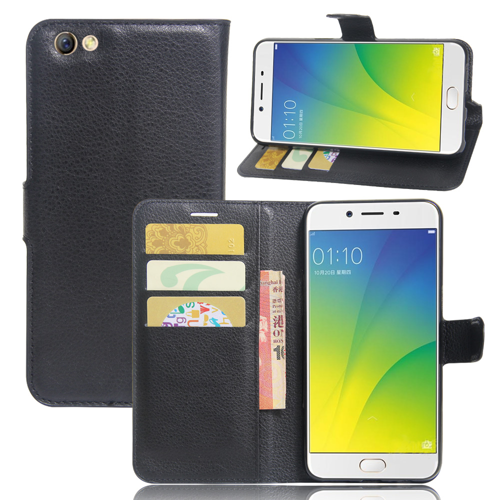 OPPO R9S Plus Wallet Style Phone Case Litchi Texture Flip Leather Cover Case for OPPO R9S Plus 6.0 inch Magnetic Phone Shell
