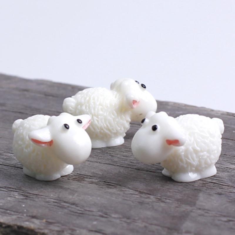 5 шт./лот 1,5*2 см милые полимерные мини Овцы микро фигурки миниатюрные сказочные садовые домашние Свадебные вечерние аксессуары для декора DIY
