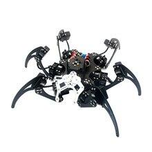 20DOF Aluminium Hexapod Robotic Spider Six Legs Robot Arm Frame Kit with 20pcs Servo horn for Arduino DIY