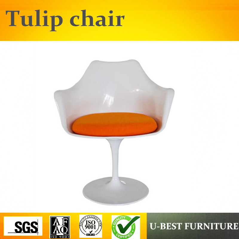 U-BEST Comfortable Cafe Dining Tulip Arm Chair,modern fiberglass leisure red tulip arm chair ideal lux точечный светильник ideal lux lounge fi1 bianco