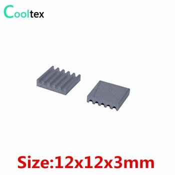 (1000pcs/lot)  12x12x3mm Aluminum heatsink Extruded radiator for Electronic IC chip RAM cooler cooling