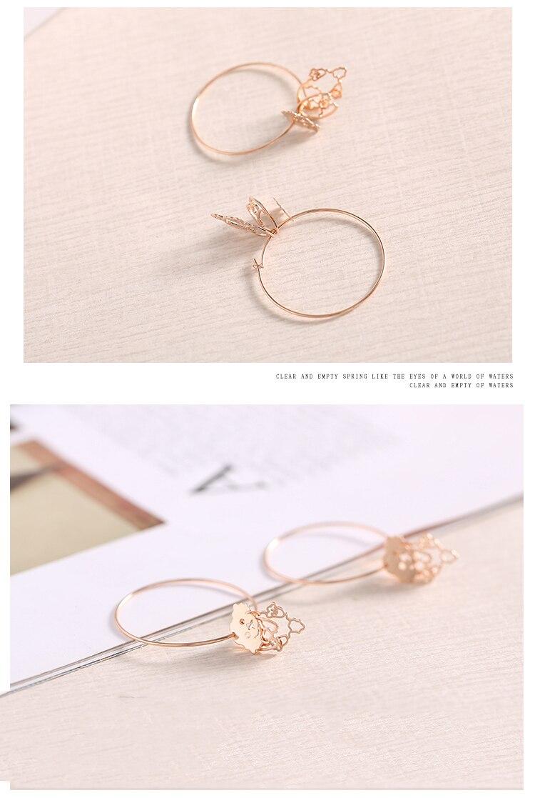 rose gold dog drop silver hoop earrings 08