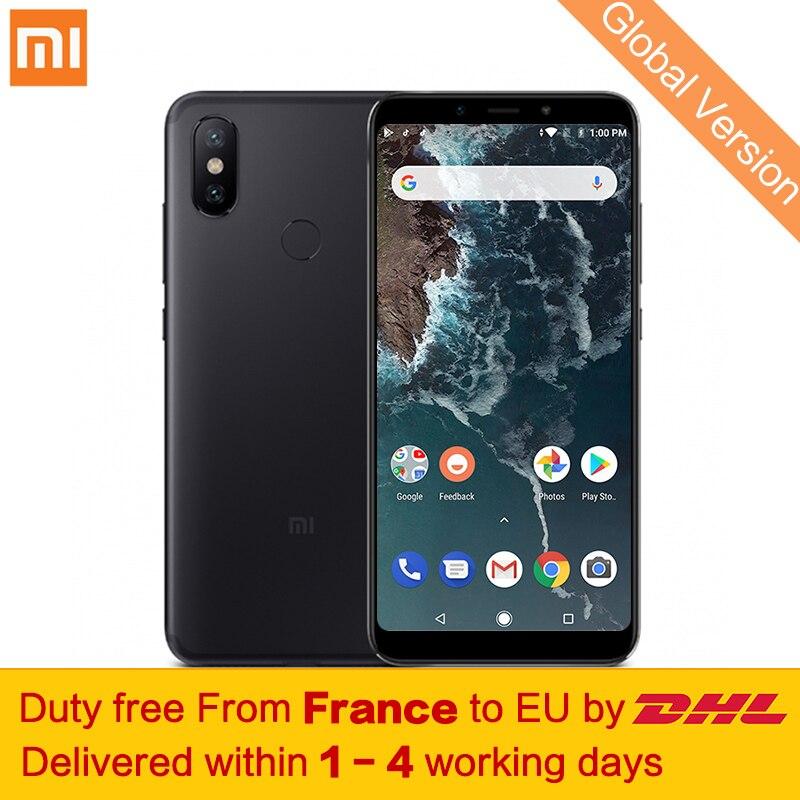 Taxe gratuite! Version mondiale Xiao mi A2 4 GB 64 GB téléphone Mobile Snapdragon 660 Octa Core 20MP AI double caméras 5.99